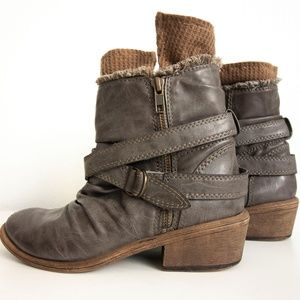 Post-Industrial Ankle Boots